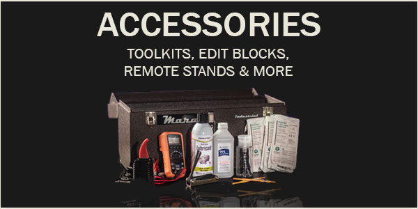 accessories, mara machines, analog tape machine, tape machine, multimeter, tape calibration